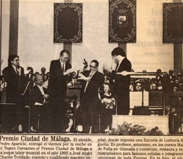 Premio ciudad de Malaga