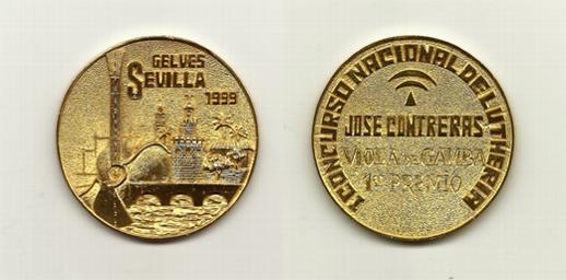 """Medalla Concurso Nacional de Lutheria """"José Contreras"""""""